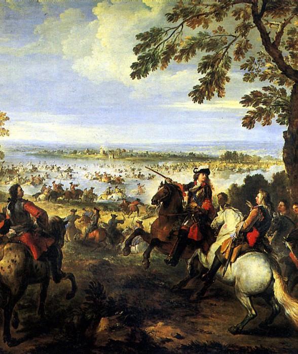 ПАРРОСЕЛЬ ЖОЗЕФ - Переправа через Рейн армии Людовика XIV 12 июня 1672 г.. Лувр (Париж)