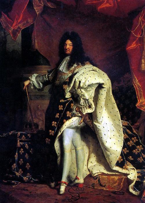 РИГО ГИАЦИНТ - Людовик XIV, король Франции, 1701.. Louvre (Paris)