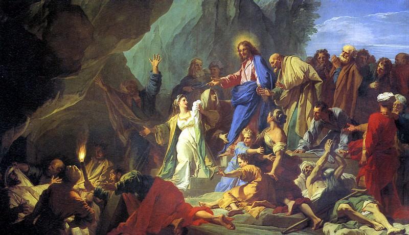 ЖУВЕНЕ ЖАН - Воскрешение Лазаря, 1706.. Louvre (Paris)
