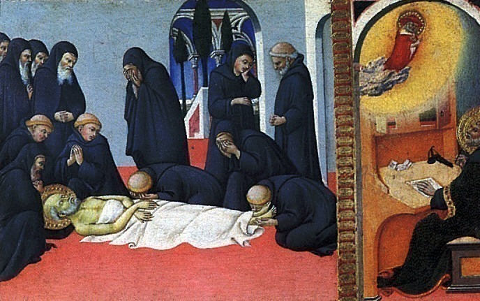 Сано ди Пьетро - Смерть св. Иеронима. Louvre (Paris)