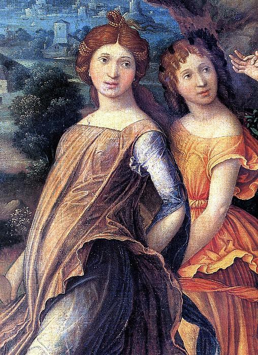 МАНТЕНЬЯ - Марс и Венера, или Парнас (фрагмент).. Louvre (Paris)