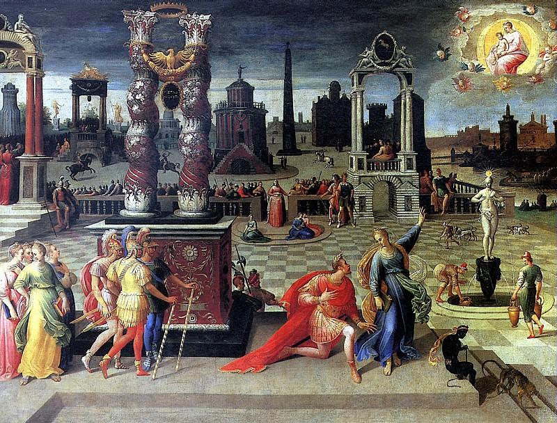 КАРОН АНТУАН - Император Август и Тибуртинская сивилла.. Louvre (Paris)