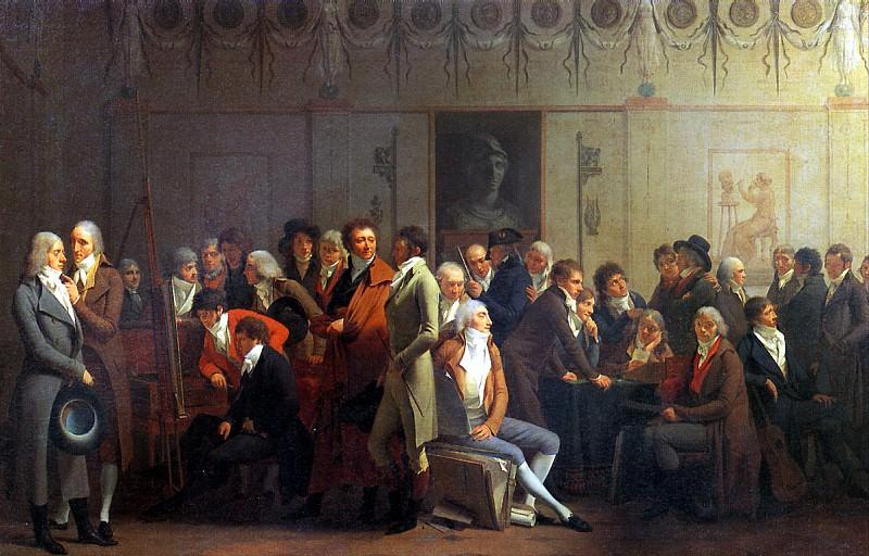 БУАЛЬИ ЛУИ ЛЕОПОЛЬД - Вечеринка художников в мастерской Изабэ.. Louvre (Paris)