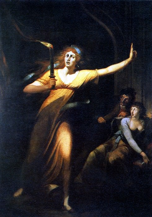 ФЮСЛИ ИОГАНН ГЕНРИХ - Леди Макбет, 1784.. Louvre (Paris)