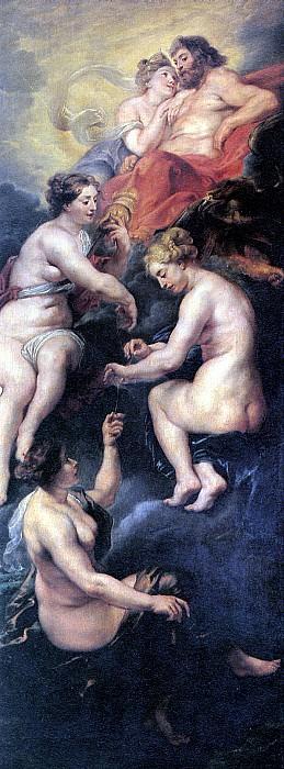 РУБЕНС ПИТЕР ПАУЭЛ - Судьба Марии Медичи.. Louvre (Paris)
