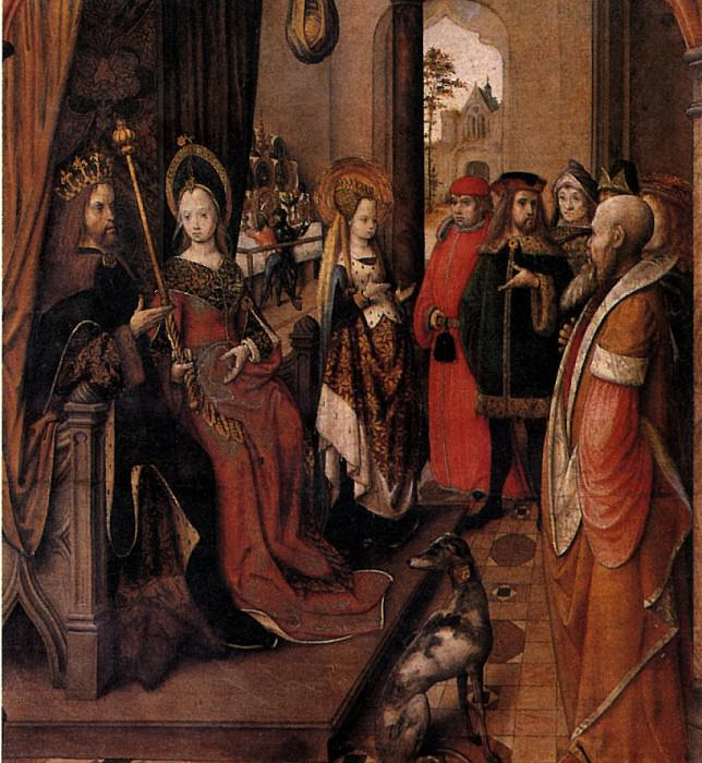 МАСТЕР ЛЕГЕНДЫ СВ. УРСУЛЫ - Св. Урсула объявляет о своем путешествии при дворе своего отца.. Louvre (Paris)