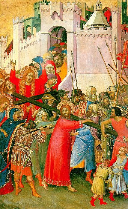 СИМОНЕ МАРТИНИ - Несение креста, ок. 1336/42(?).. Louvre (Paris)
