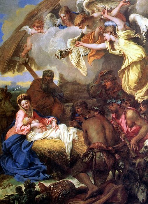 КАСТИЛЬОНЕ ДЖОВАННИ БЕНЕДЕТТО - Поклонение пастухов.. Louvre (Paris)