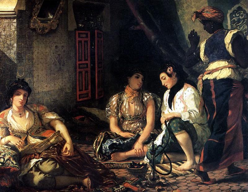 ДЕЛАКРУА ЭЖЕН - Алжирские женщины, 1834.. Louvre (Paris)
