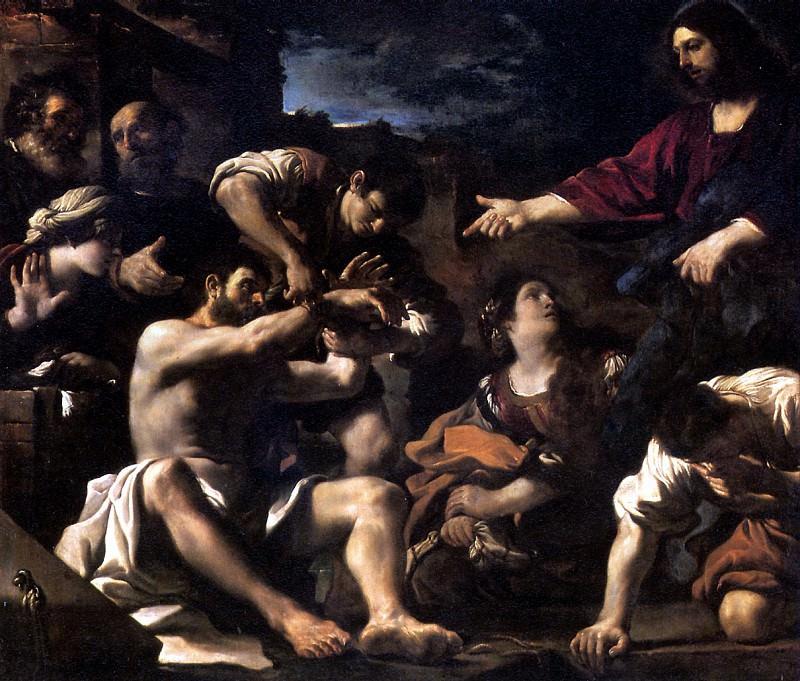 БАРБЬЕРИ ДЖОВАННИ ФРАНЧЕСКО, ПРОЗВАННЫЙ ГВЕРЧИНО - Воскрешение Лазаря, ок. 1619.. Louvre (Paris)