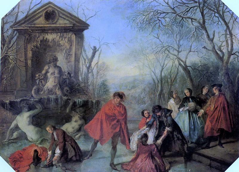 ЛАНКРЕ НИКОЛА - Зима, 1738.. Лувр (Париж)