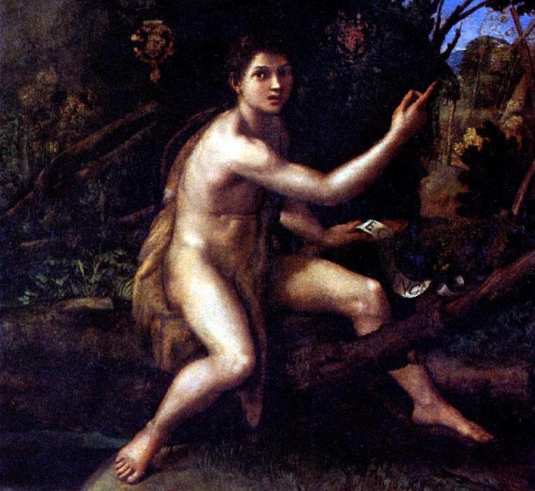 РАФАЭЛЬ - Св. Иоанн Креститель, ок. 1516.. Louvre (Paris)