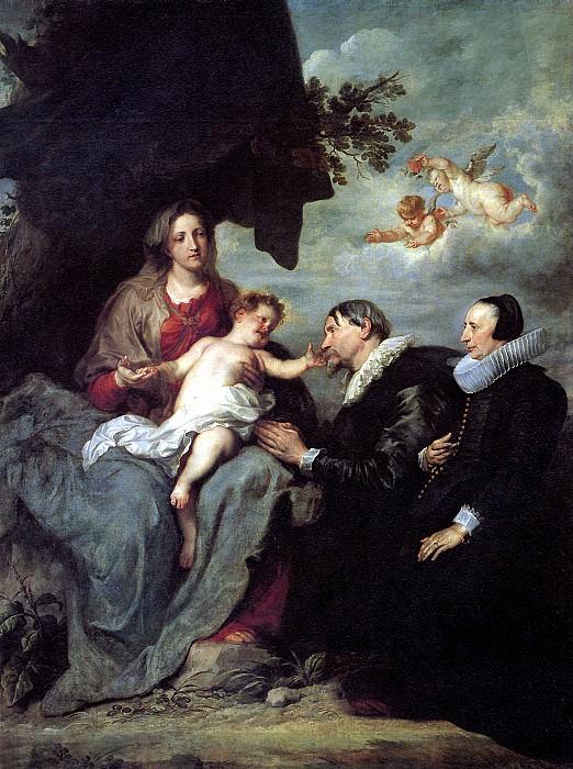 ВАН ДЕЙК АНТОНИС - Мария с младенцем Христом и с донаторами.. Louvre (Paris)
