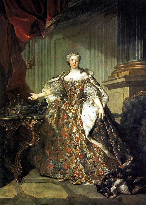 ТОКЕ ЛУИ - Мария Лещинска, королева Франции, жена Людовика XV, 1740.. Louvre (Paris)