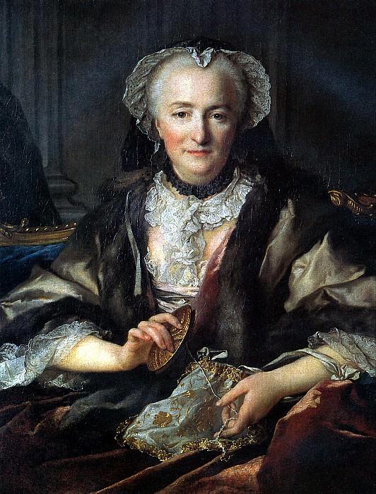 ТОКЕ ЛУИ - Мадам. д′Анже, супруга генерала Франсуа Бальтазара д′Анже Дюфэ, 1753.. Louvre (Paris)