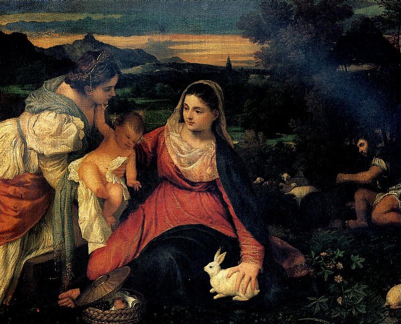 ТИЦИАН - Мадонна с кроликом, 1530.. Louvre (Paris)