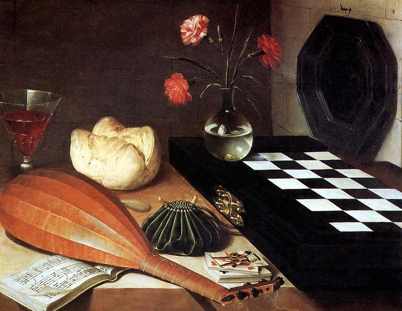 ЛЮБЕН БОЖЕН (предполагаемый автор) - Натюрморт с шахматной доской.. Лувр (Париж)