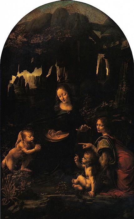 ЛЕОНАРДО - Мадонна в гроте. Заказана в 1483.. Louvre (Paris)