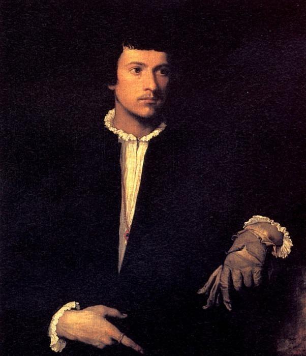 ТИЦИАН - Портрет юноши с перчаткой, ок. 1520-1523.. Louvre (Paris)