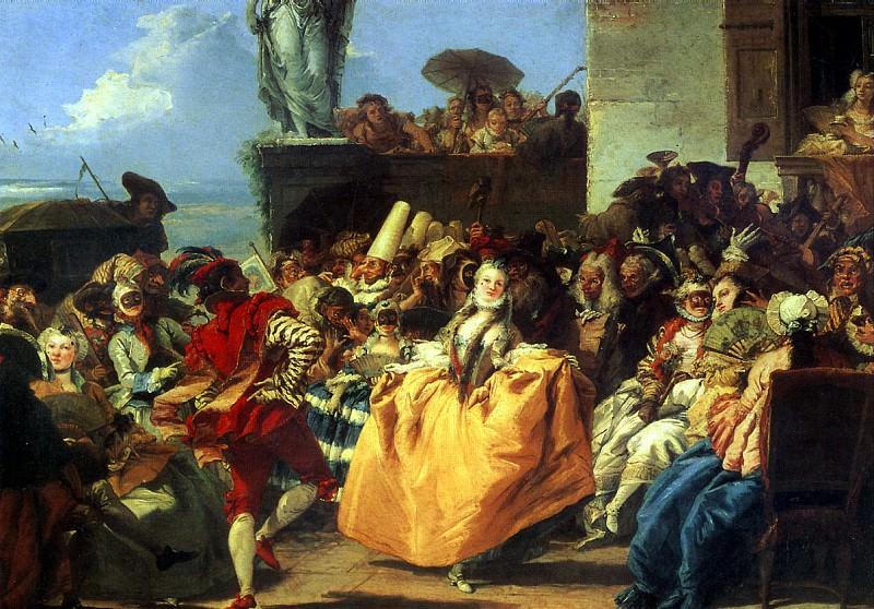 ТЬЕПОЛО ДЖОВАННИ ДОМЕНИКО - Сцена карнавала, или Менуэт.. Louvre (Paris)