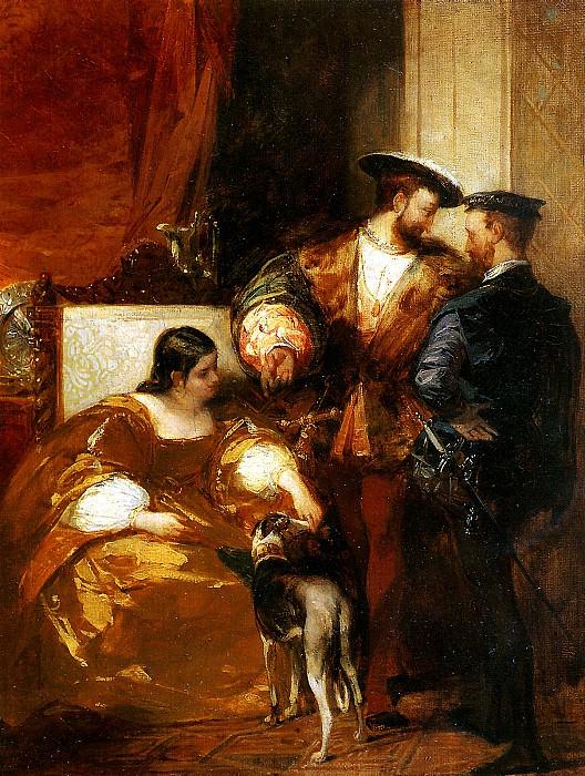БОНИНГТОН РИЧАРД ПАРКС - Франциск I и герцогиня д′Этамп.. Лувр (Париж)