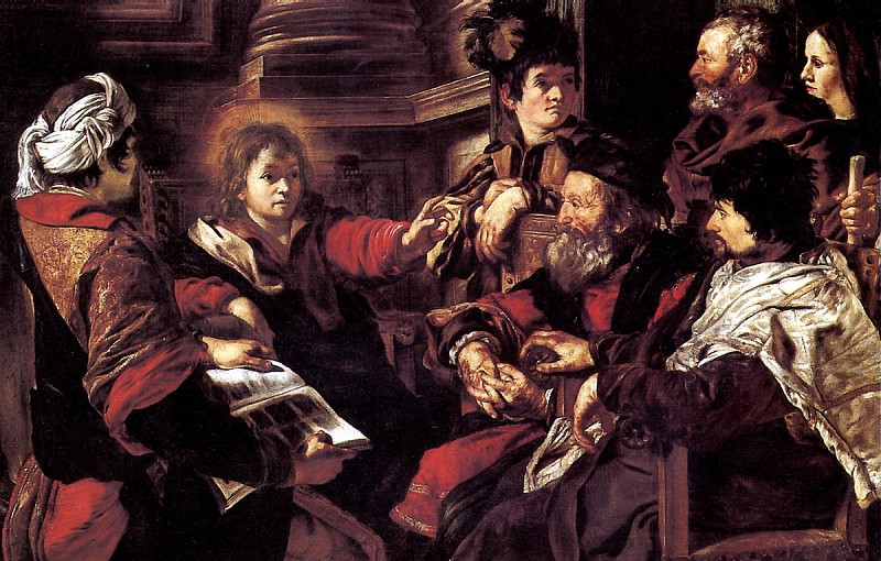 СЕРОДИНЕ ДЖОВАННИ - Христос, проповедующий в храме.. Louvre (Paris)