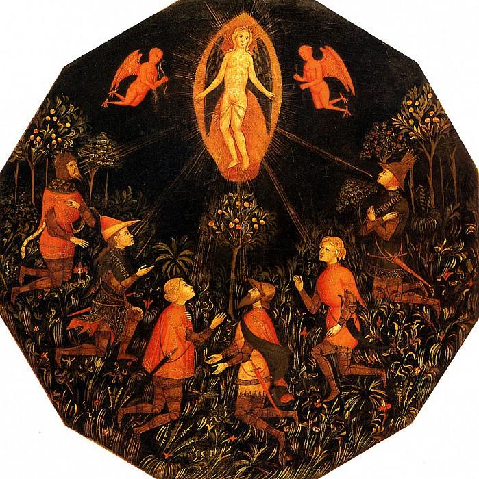 МАСТЕР ВЗЯТИЯ ТАРЕНТО - Триумф Венеры с поклоняющимися ей Ахиллом, Тристаном, Ланселотом, Самсоном, Парисом и Троилом.. Louvre (Paris)