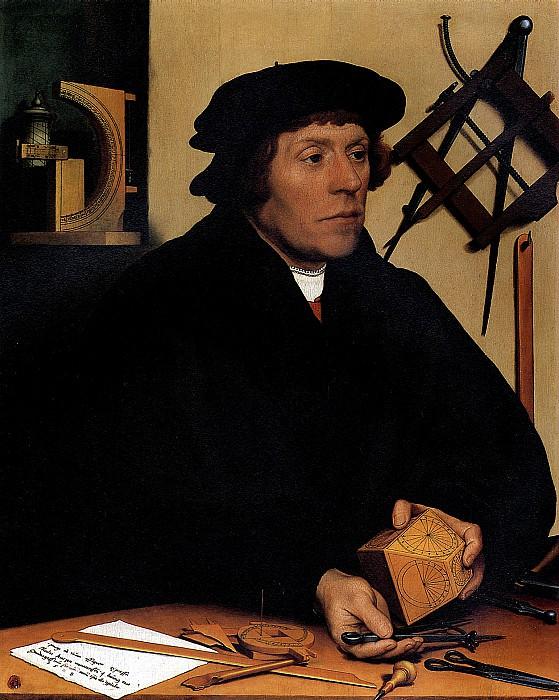 ХОЛЬБЕЙН МЛАДШИЙ - Николас Кратцер, 1528.. Louvre (Paris)