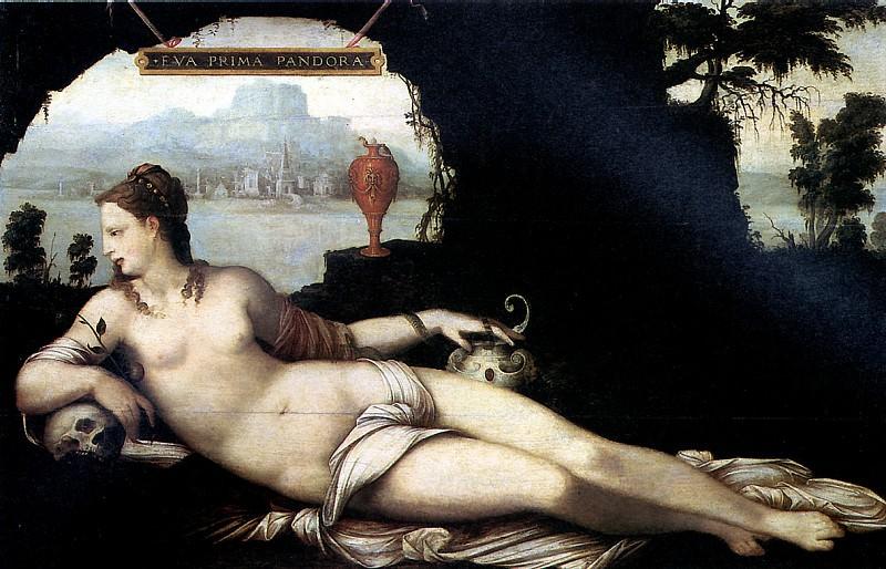 КУЗЕН ЖАН СТАРШИЙ - Ева — первая Пандора.. Louvre (Paris)