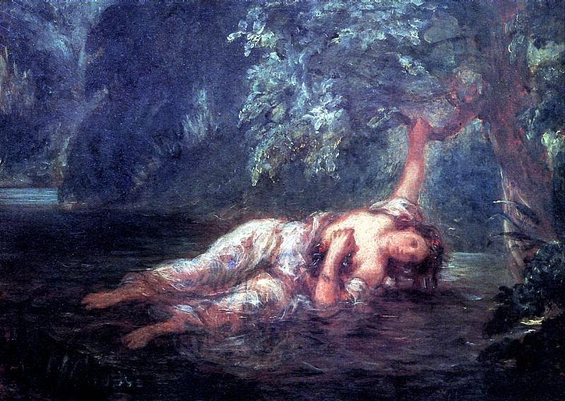 ДЕЛАКРУА ЭЖЕН - Смерть Офелии.. Лувр (Париж)