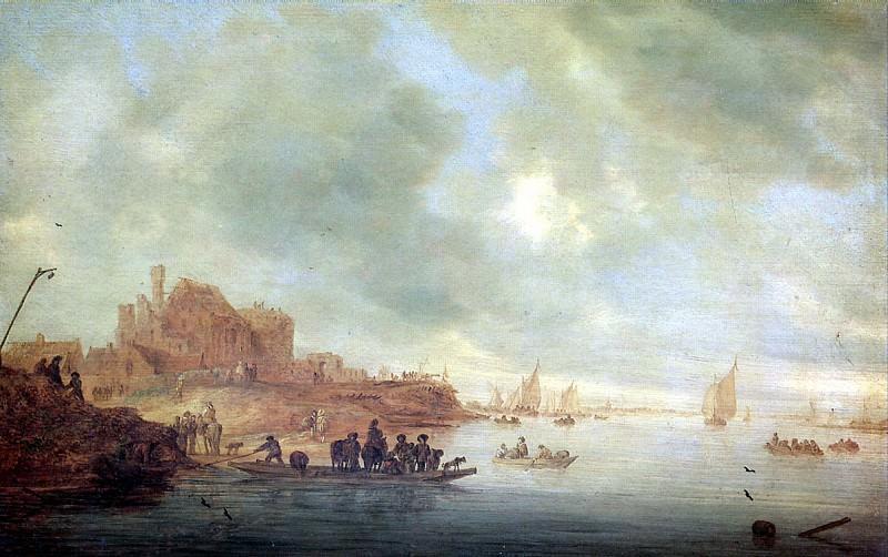 РЁЙСДАЛ САЛОМОН ВАН - Паром, 1643.. Louvre (Paris)