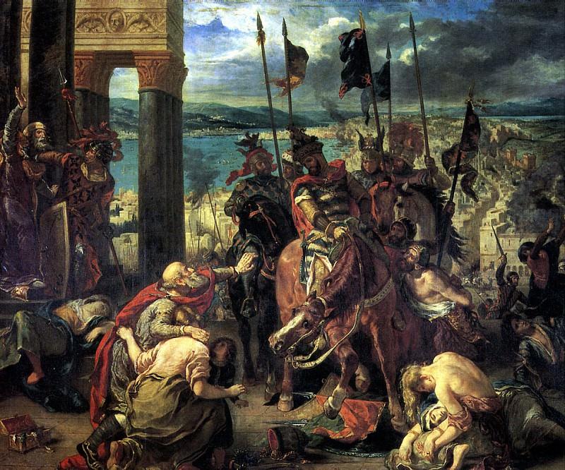 ДЕЛАКРУА ЭЖЕН - Взятие крестоносцами Константинополя 12 апреля 1204 г., 1840.. Louvre (Paris)