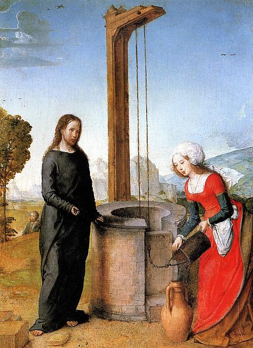 ХУАН ФЛАНДРСКИЙ - Христос и самарянка, до 1504.. Louvre (Paris)
