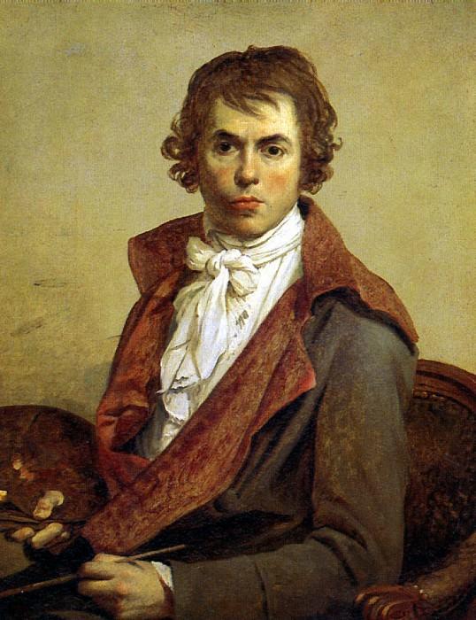 ДАВИД ЖАК ЛУИ - Автопортрет, 1794.. Louvre (Paris)