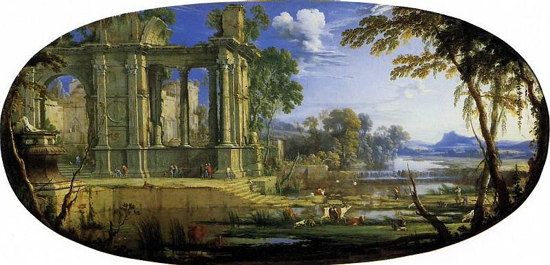 ПАТЕЛЬ СТАРШИЙ, ПЬЕР - Фантастический пейзаж с руинами.. Louvre (Paris)