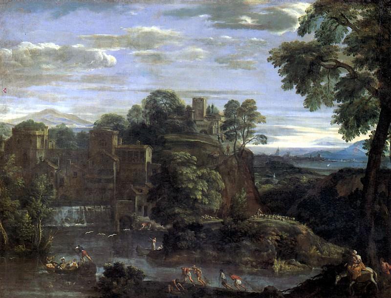 ДОМЕНИКИНО - Пейзаж с Бегством в Египет, ок. 1620.. Louvre (Paris)
