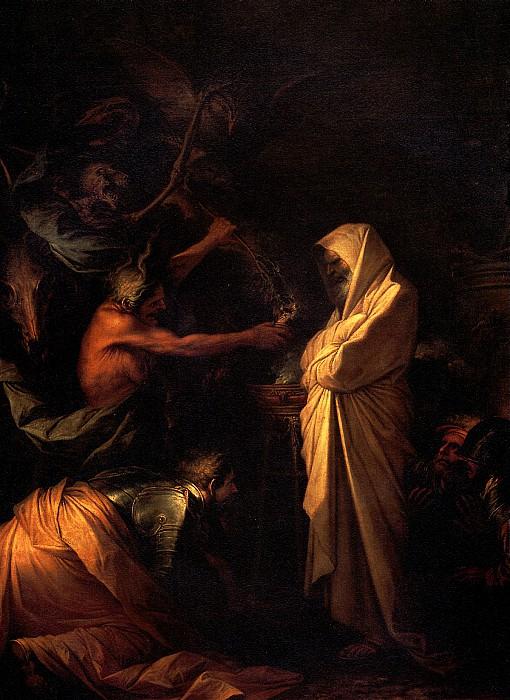 РОЗА САЛЬВАТОРЕ - Дух Самуила, призванный к С аулу волшебницей из Аэндора, 1668.. Лувр (Париж)