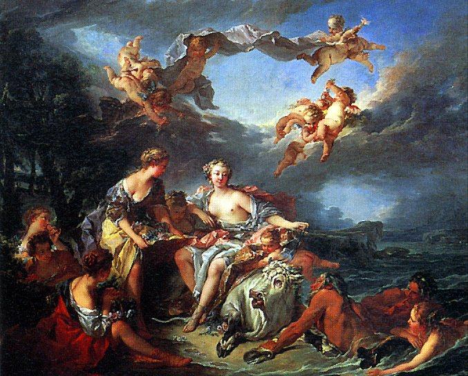 БУШЕ - Похищение Европы.. Louvre (Paris)