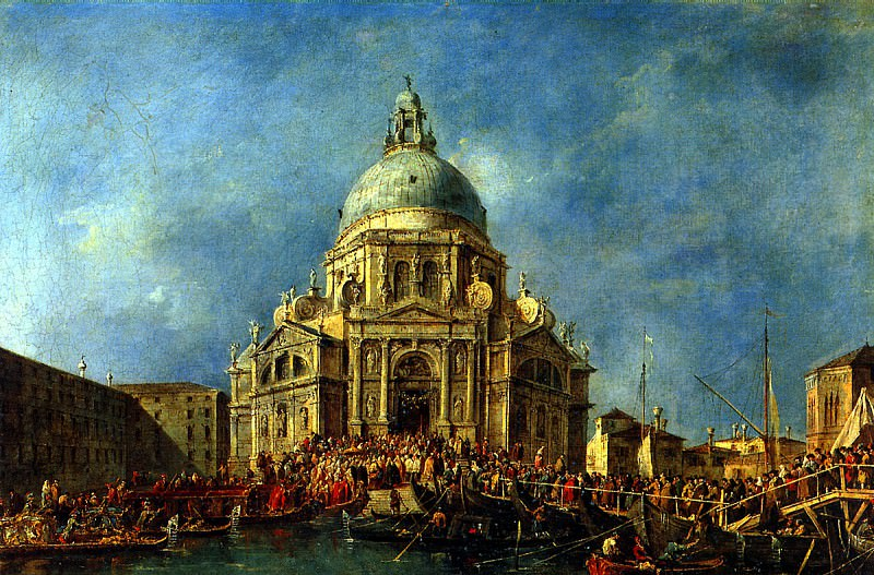 ГВАРДИ ФРАНЧЕСКО - Дож Венеции прибывает 21 ноября на фейерверк в память окончания чумы 1630 г.. Лувр (Париж)