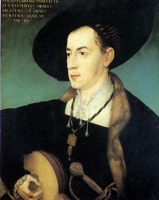 МАЛЕР ХАНС - Маттеус Шварц, 1526.. Louvre (Paris)