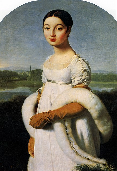 ЭНГР ЖАН ОГЮСТ ДОМИНИК - Мадемуазель Каролин Ривьер, 1805.. Louvre (Paris)