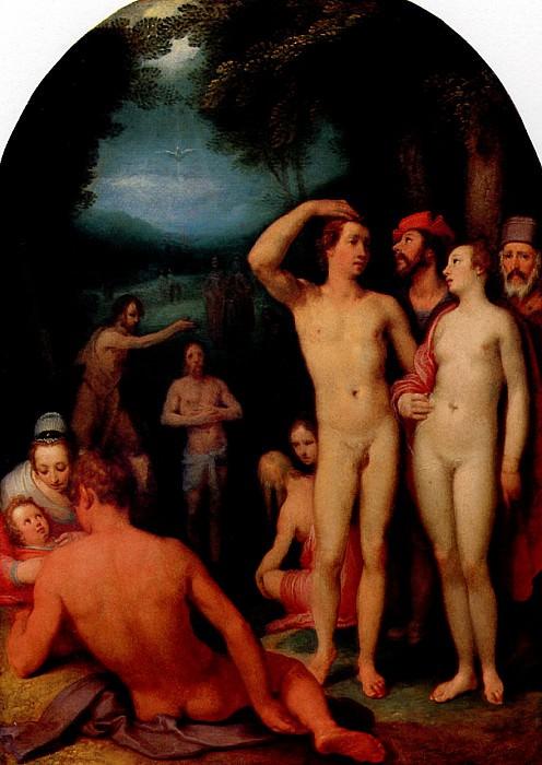 ВАН ХААРЛЕМ КОРНЕЛИС - Крещение.. Louvre (Paris)