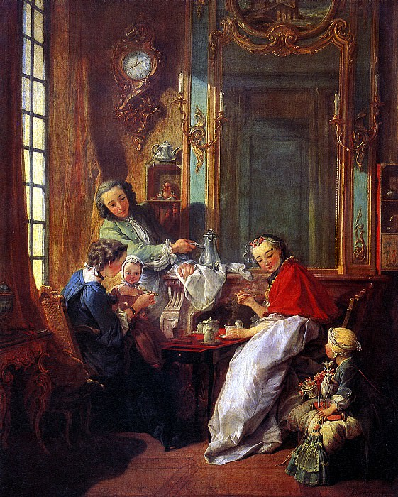 БУШЕ ФРАНСУА - Завтрак, 1739.. Louvre (Paris)