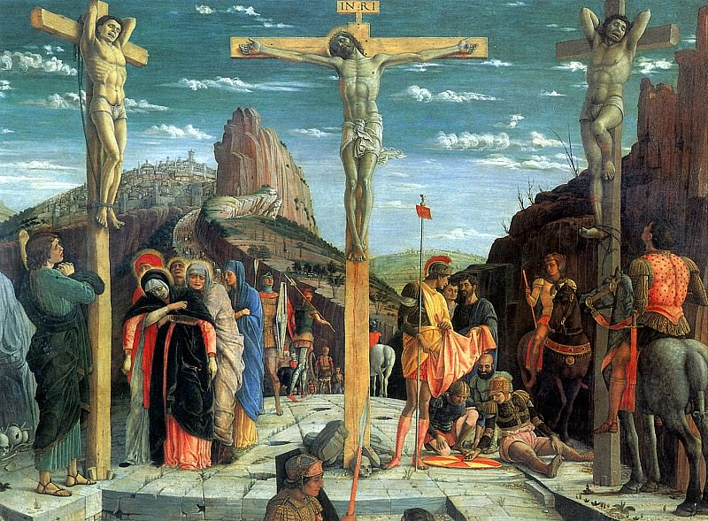 МАНТЕНЬЯ АНДРЕА - Распятие, 1457-1460.. Louvre (Paris)