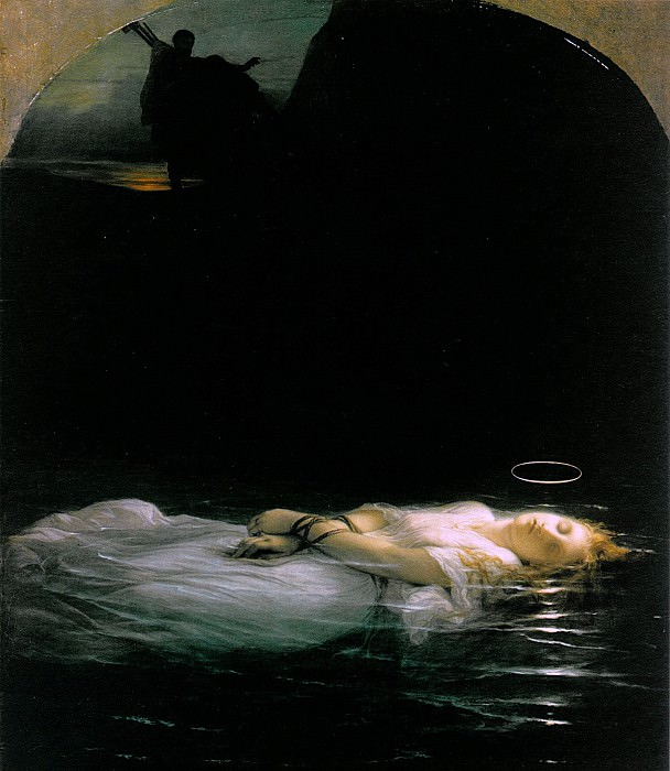 Delaroche, Paul - La jeune martyre (1856). Louvre (Paris)