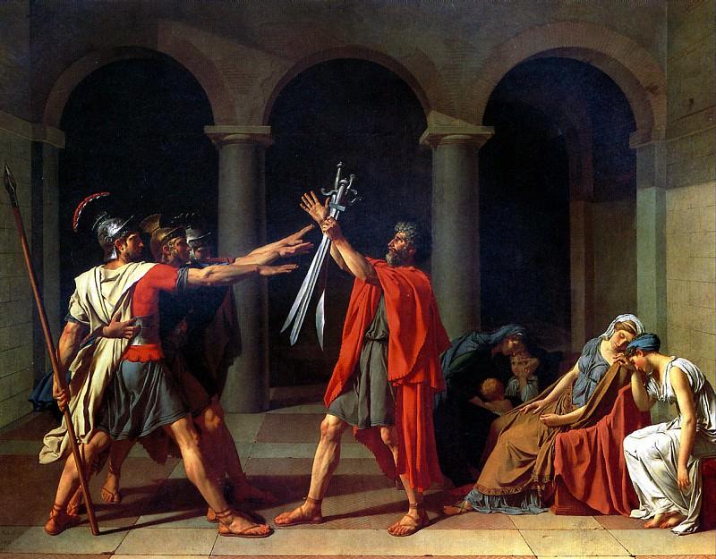 ДАВИД ЖАК ЛУИ - Клятва Горациев, 1784.. Louvre (Paris)