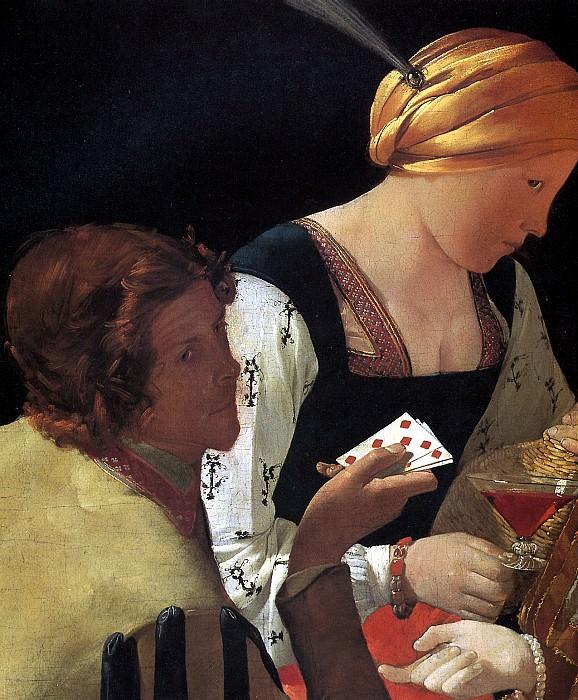 ЛАТУР ЖОРЖ ДЕ - Шулер, или Шулер с бубновым тузом (фрагмент).. Лувр (Париж)