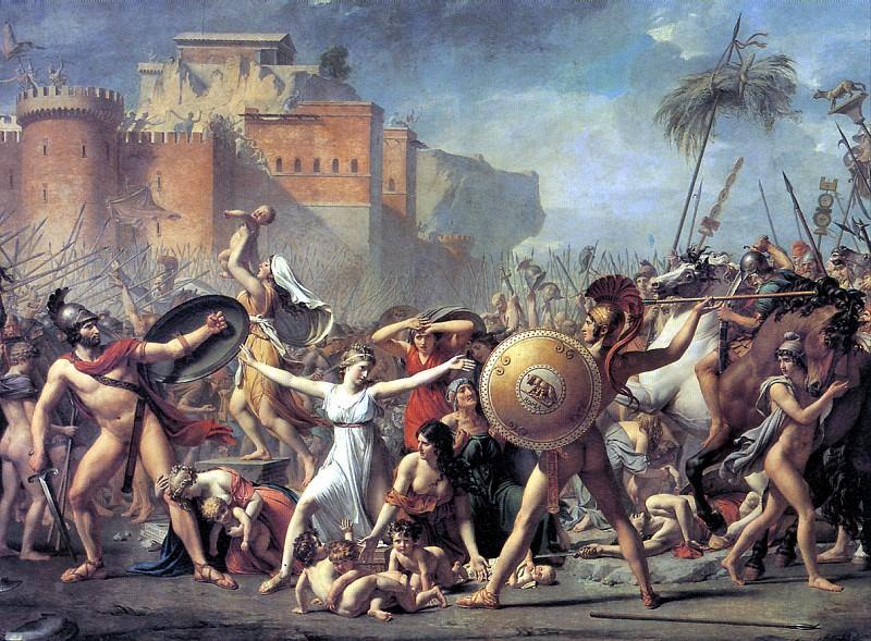 ДАВИД ЖАК ЛУИ - Сабинянки, останавливающие сражение между римлянами и сабинянами, 1799.. Louvre (Paris)