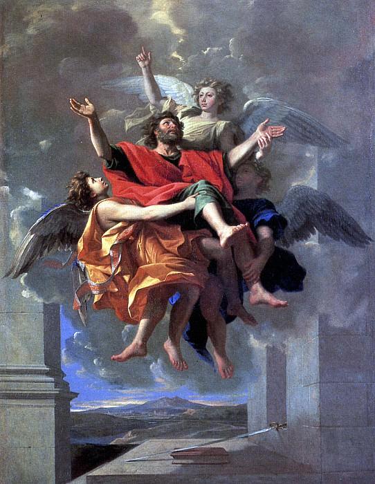 ПУССЕН НИКОЛА - Экстаз св. Павла.. Louvre (Paris)