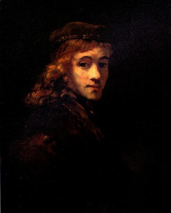РЕМБРАНДТ - Портрет Титуса, сына художника.. Louvre (Paris)